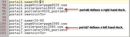 Portal properties